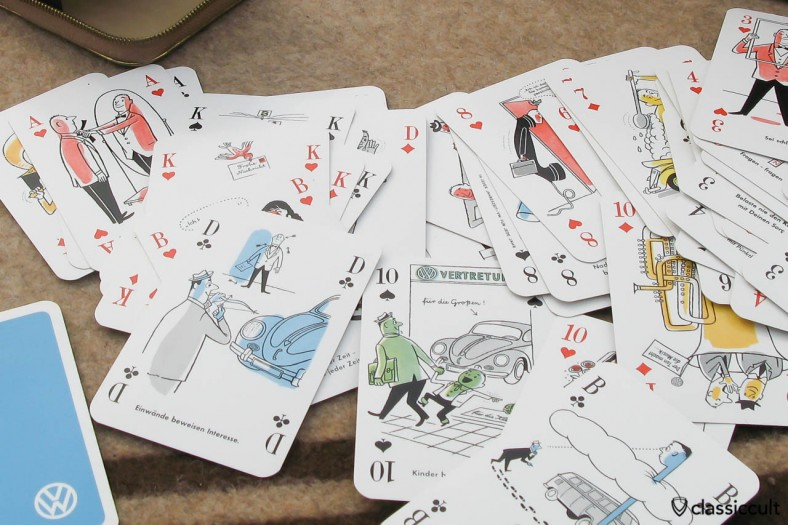 Vintage VW card game with great drawings of VW bug and bus. It was made around 1960 in Germany.