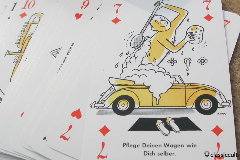 Care for your car as you would yourself. / original in german: Pflege Deinen Wagen wie Dich selber.