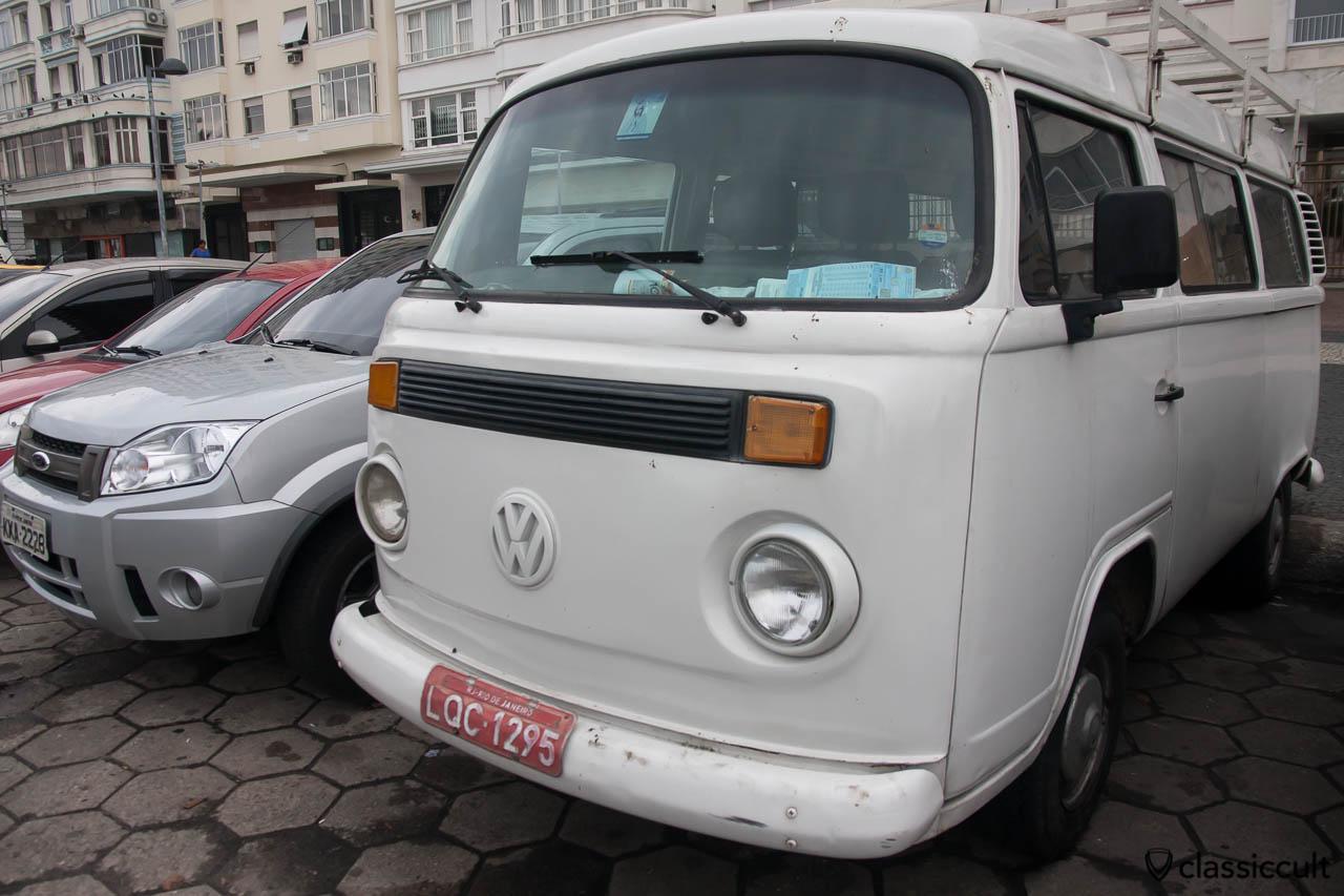 Volkswagen Kombi Bus with roof rack, Copacabana, Rio de Janeiro, Brazil, May 23, 2013