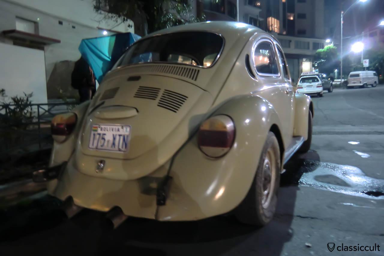 Volkswagen Peta Beetle and in T2c Panel Van in La Paz, Bolivia, May 17, 2013