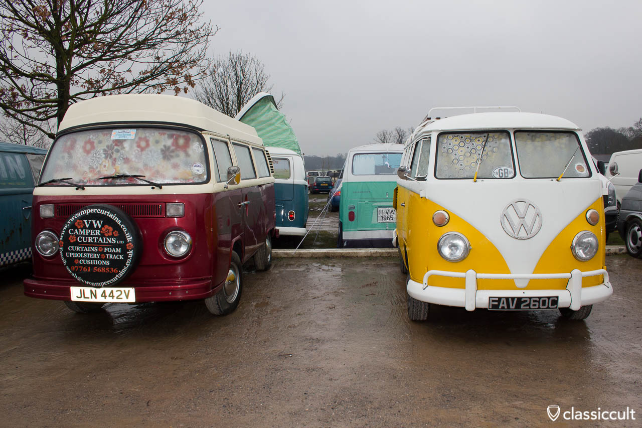 Camper Curtains VW Bus at Volksworld car park 2013