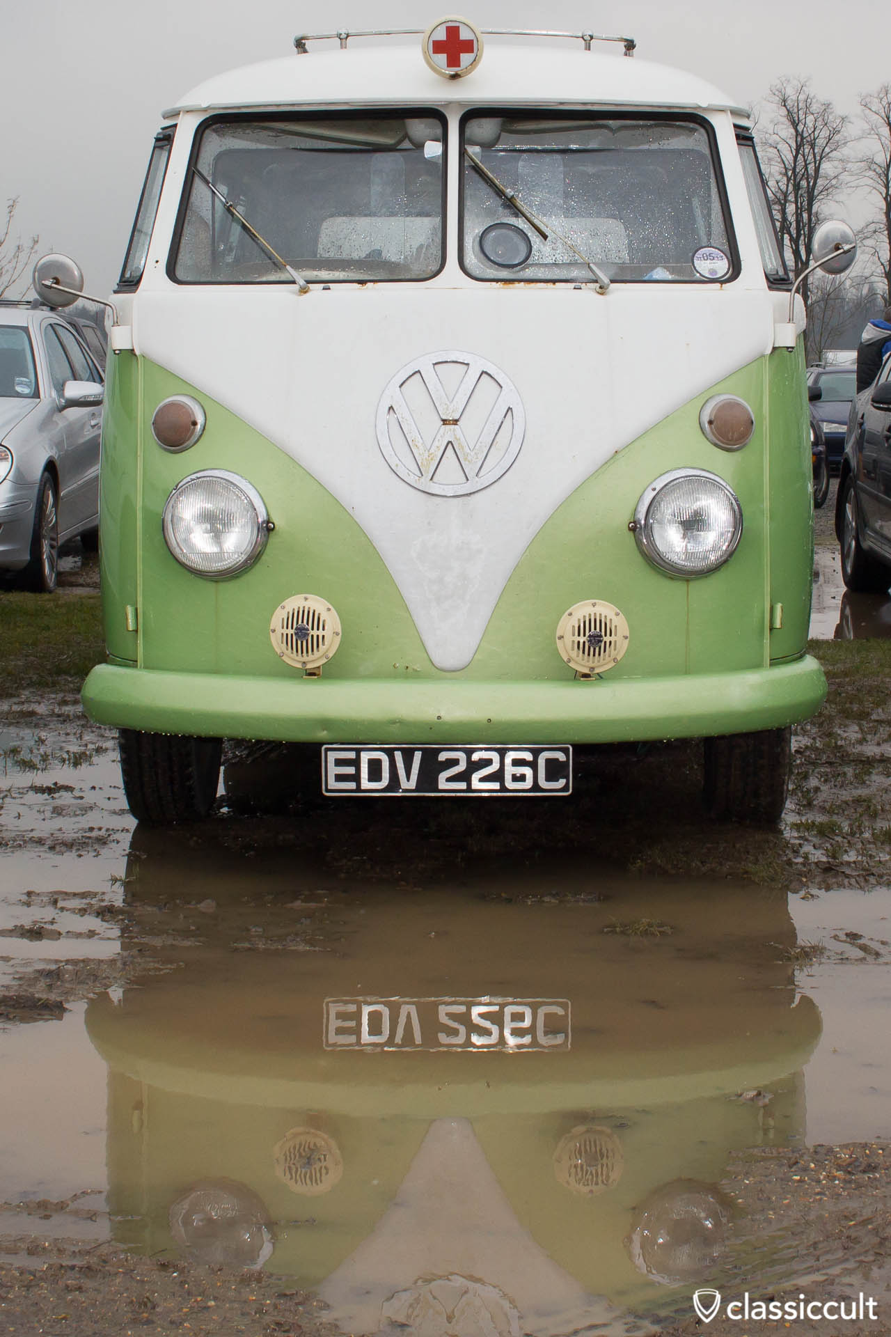 T1 Ambulance mud puddle reflection