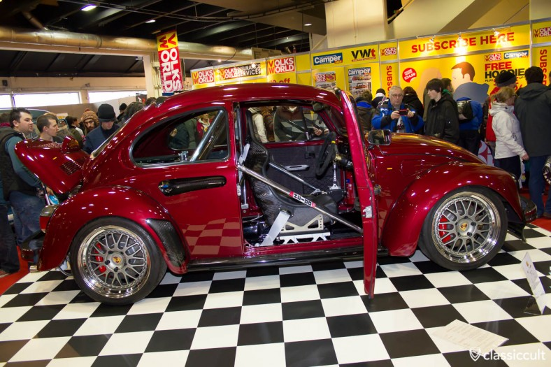 VW Beetle with porsche brakes and on roll cage