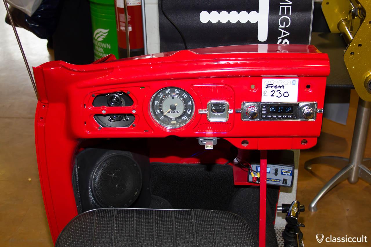 VW Bug retrosound display dashboard