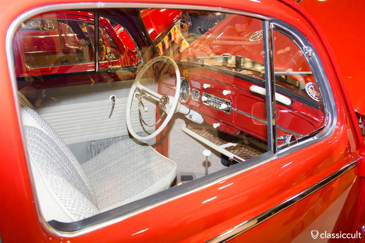 Beetle dashboard ruby red