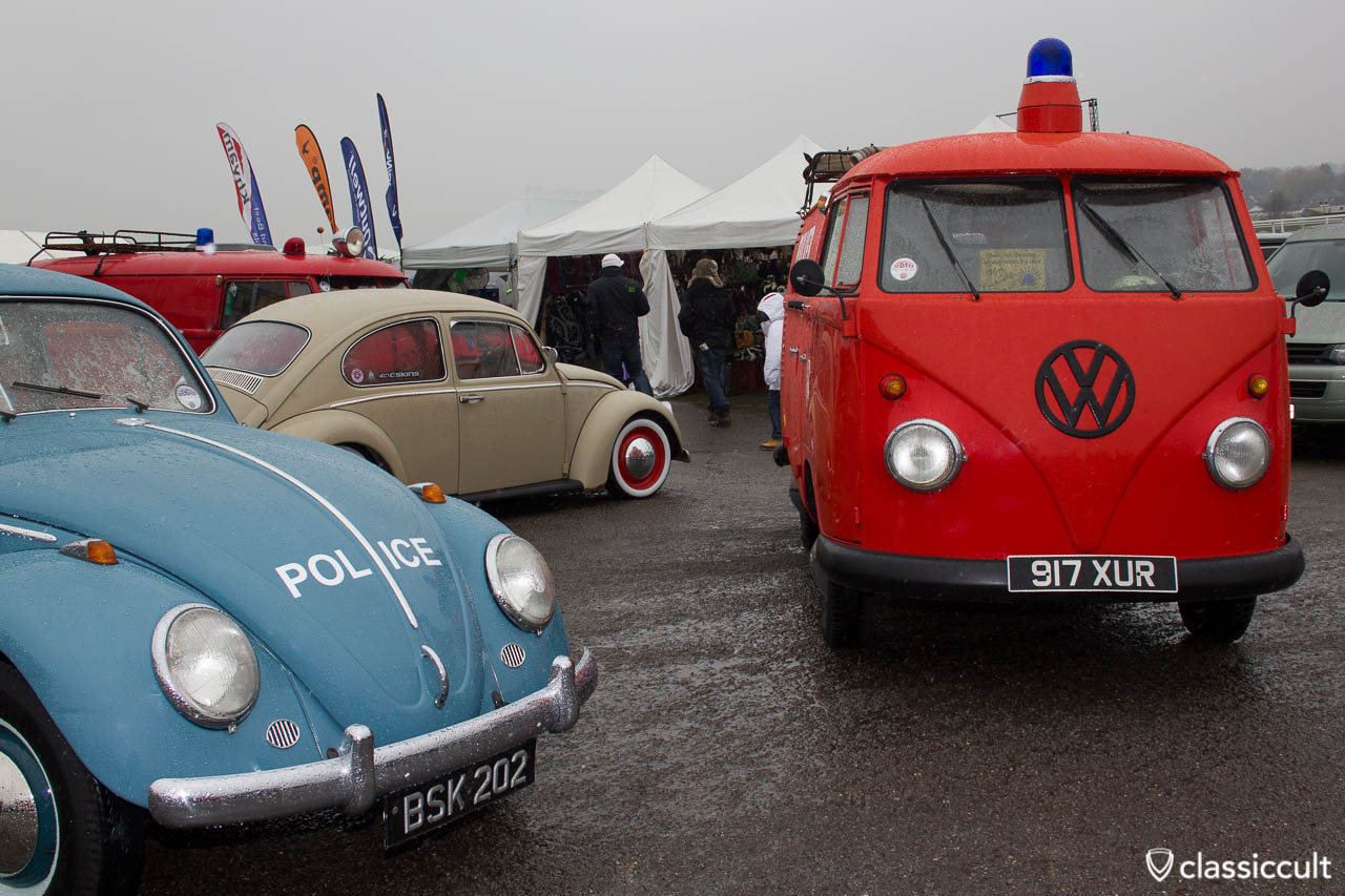 Fire Department Bus and Police Beetle