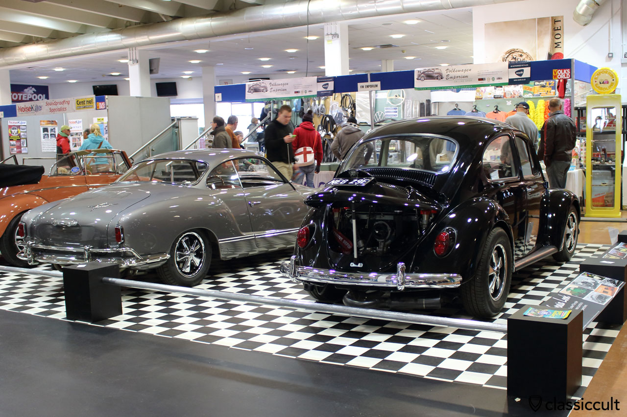 Karmann Ghia from Kenneth Anno and black Callook Beetle, Volksworld VW Show