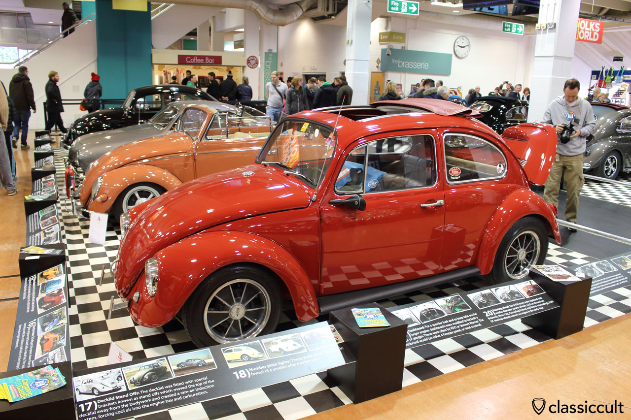 Cal look VW Bug with Talbot Berlin mirror