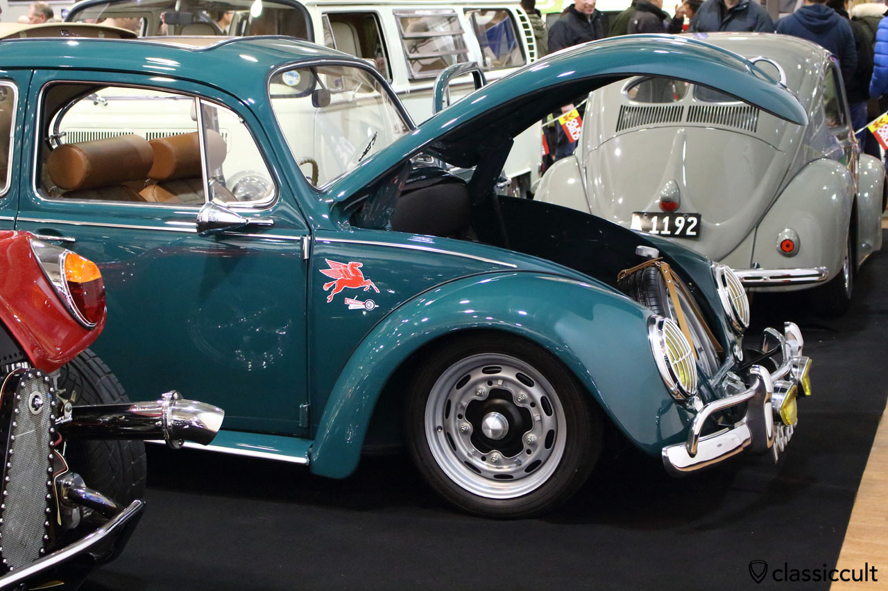 Johnny Pugsley 1967 VW Beetle with Porsche 356 wheels and Judson super charger, Volksworld 2015