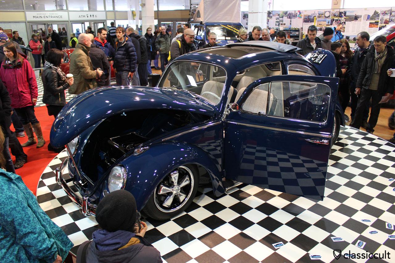 1961 indigo blue Ragtop VW Beetle from Steve Gosling, VolksWorld 2015