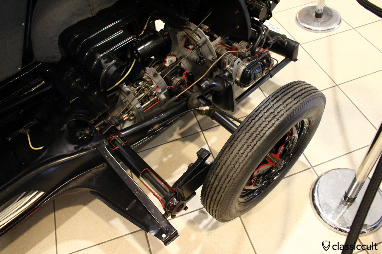 1947 Cut away VW Beetle, rear view
