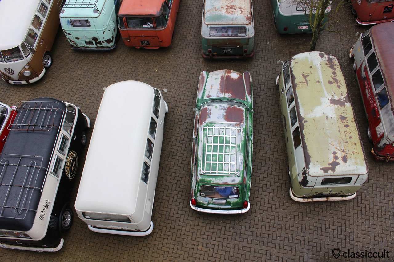Patina VW Type 3, top aerial view