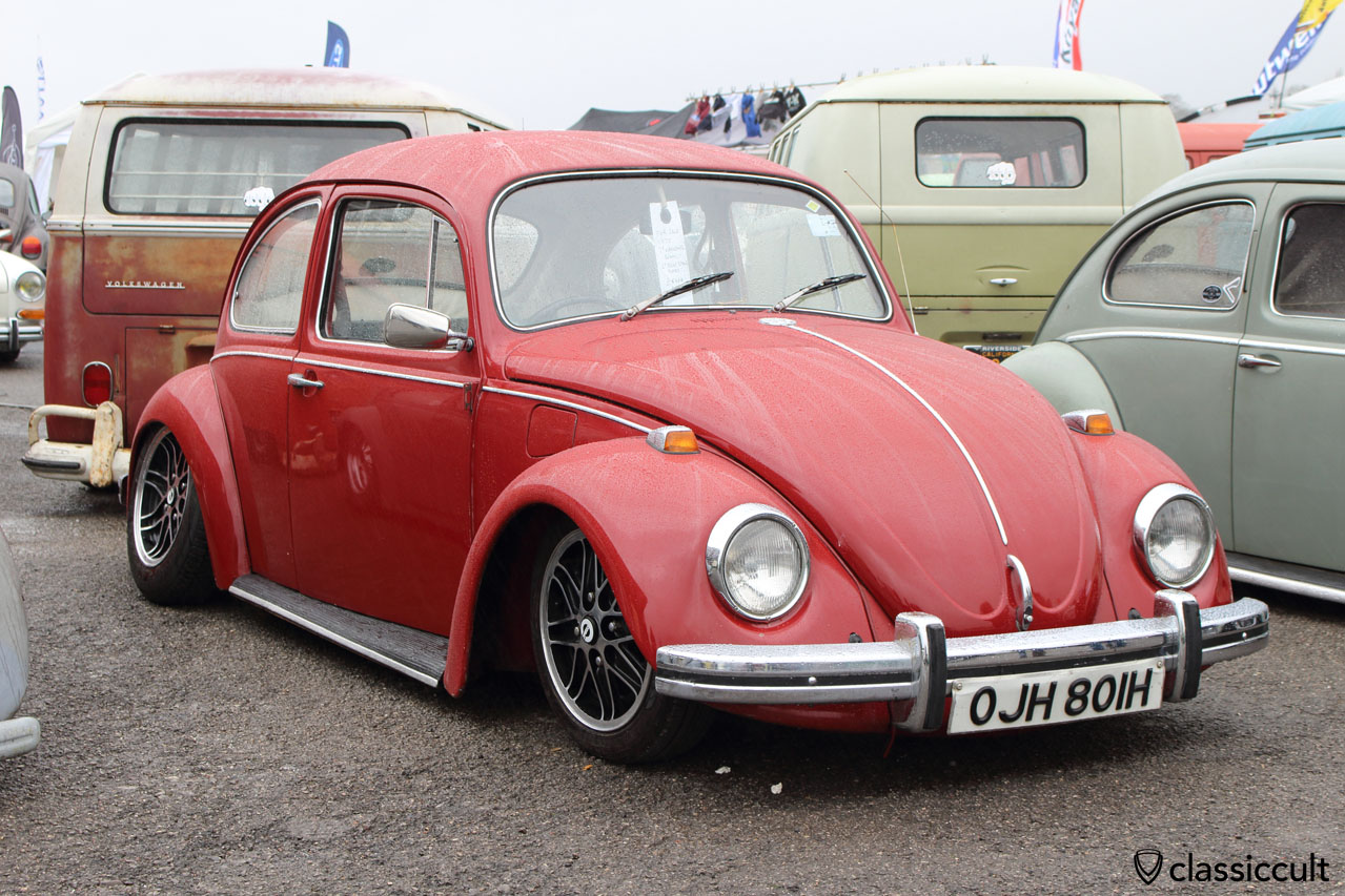 1980 VW Beetle, low and with bumper guards