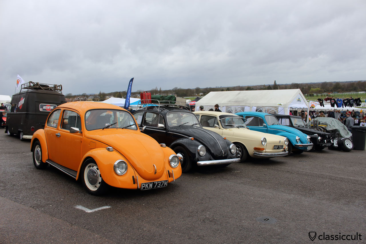 air cooled VWs, front view