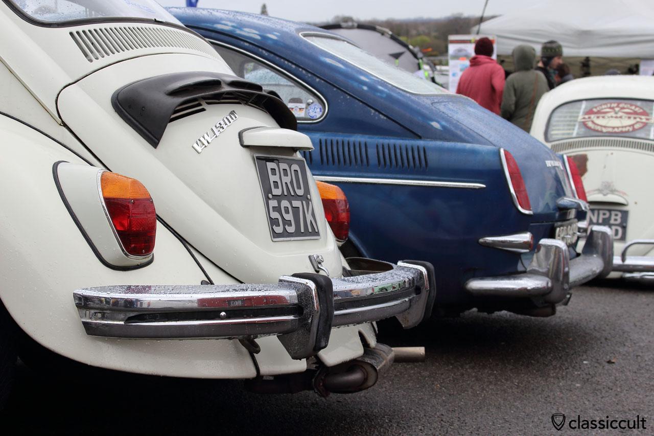 VW 1300 Beetle with rare Empi bumper guards (rear bumper)
