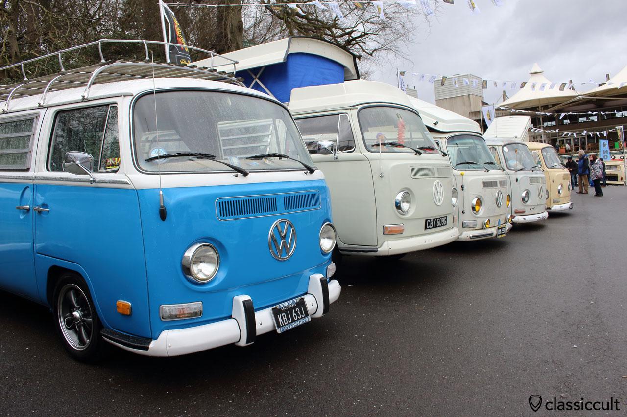 VW Bay Window Bus Line Up, Volksworld 2015
