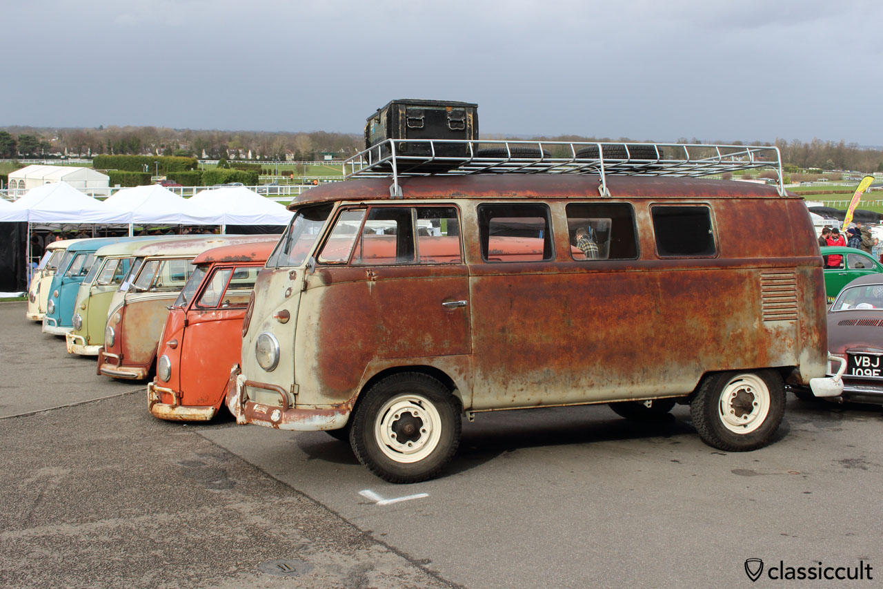 T1 micro bus with patina