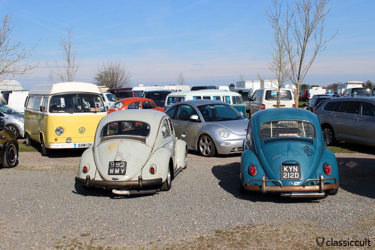VW Beetles at Volksworld car park 2016