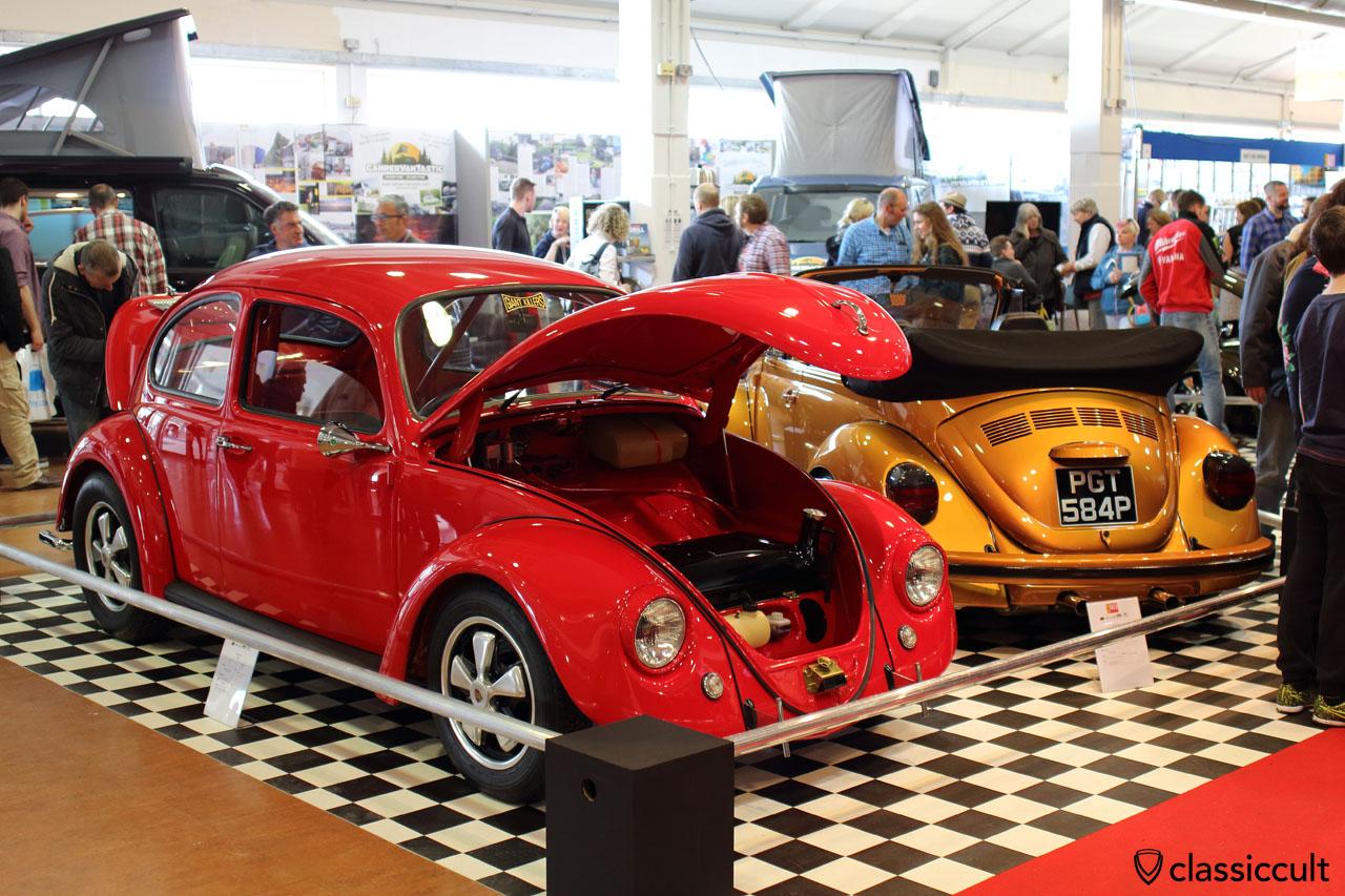 superb 1967 Cal Look Bug with Porsche Fuchs and Talbot Berlin 333 chrome mirror