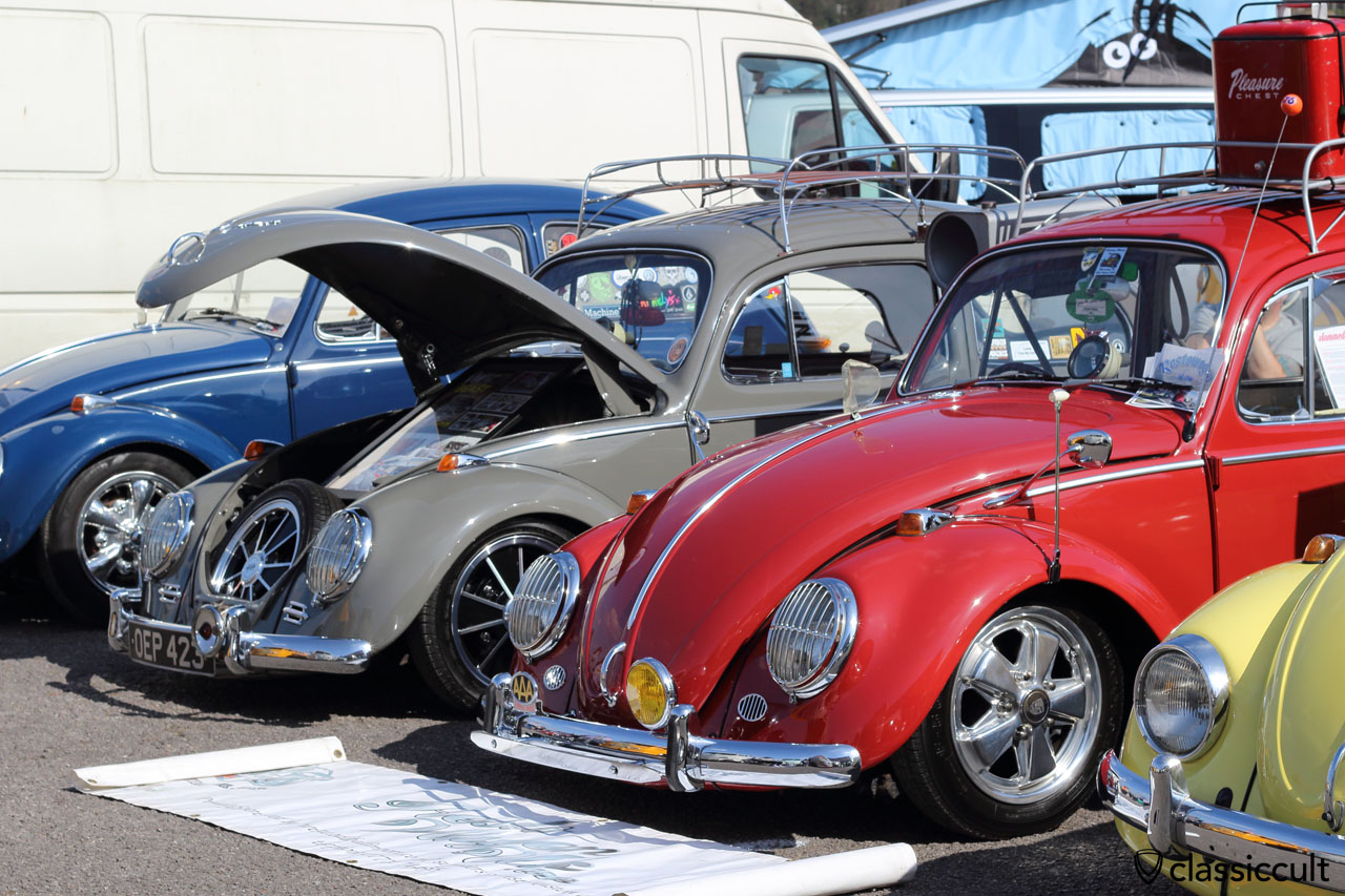 VW Beetle with headlight guards