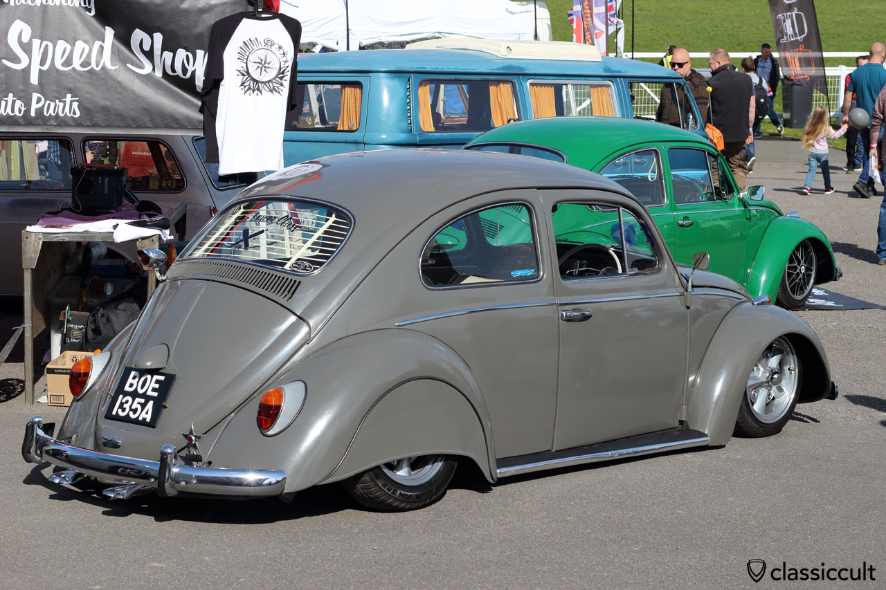The Lower Class VW Beetle with fender skirts