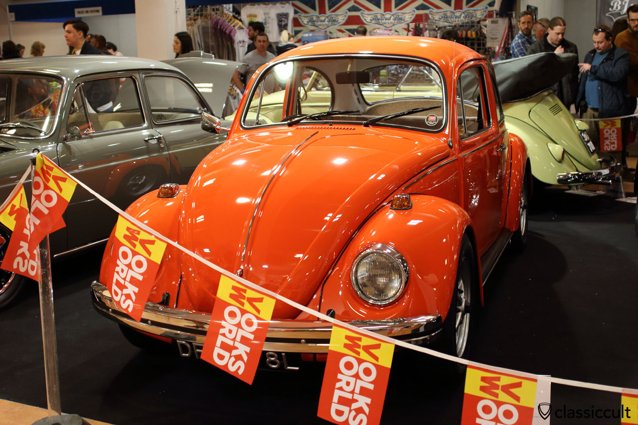 1973 Volkswagen 1600 GT Beetle with adjustable beam up front, GT Beetle Tomato Red colour, Jon Bateman