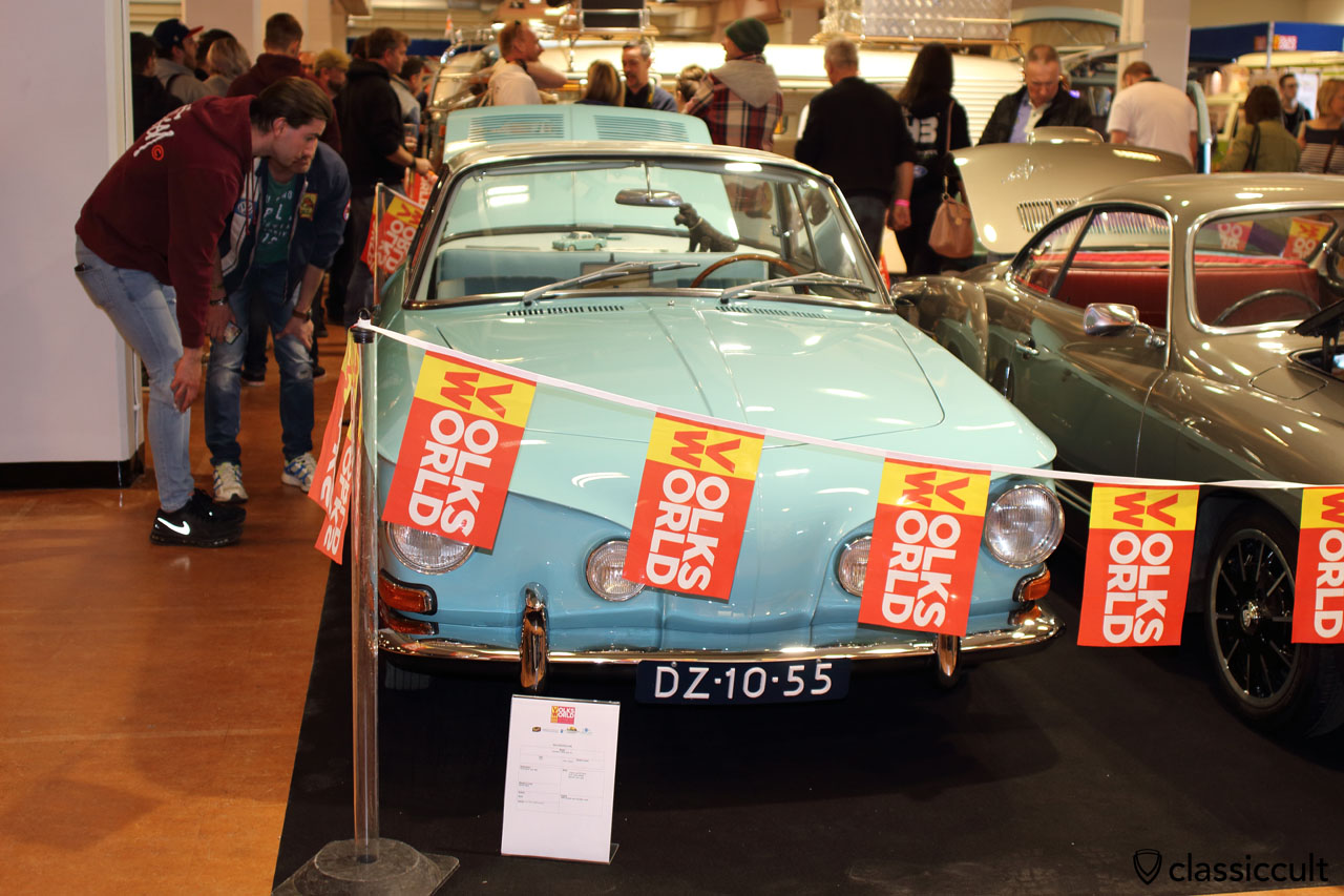 1962 Karmann Ghia Type 34 with electric sun roof, pacific blue color, Pieter Grabijn