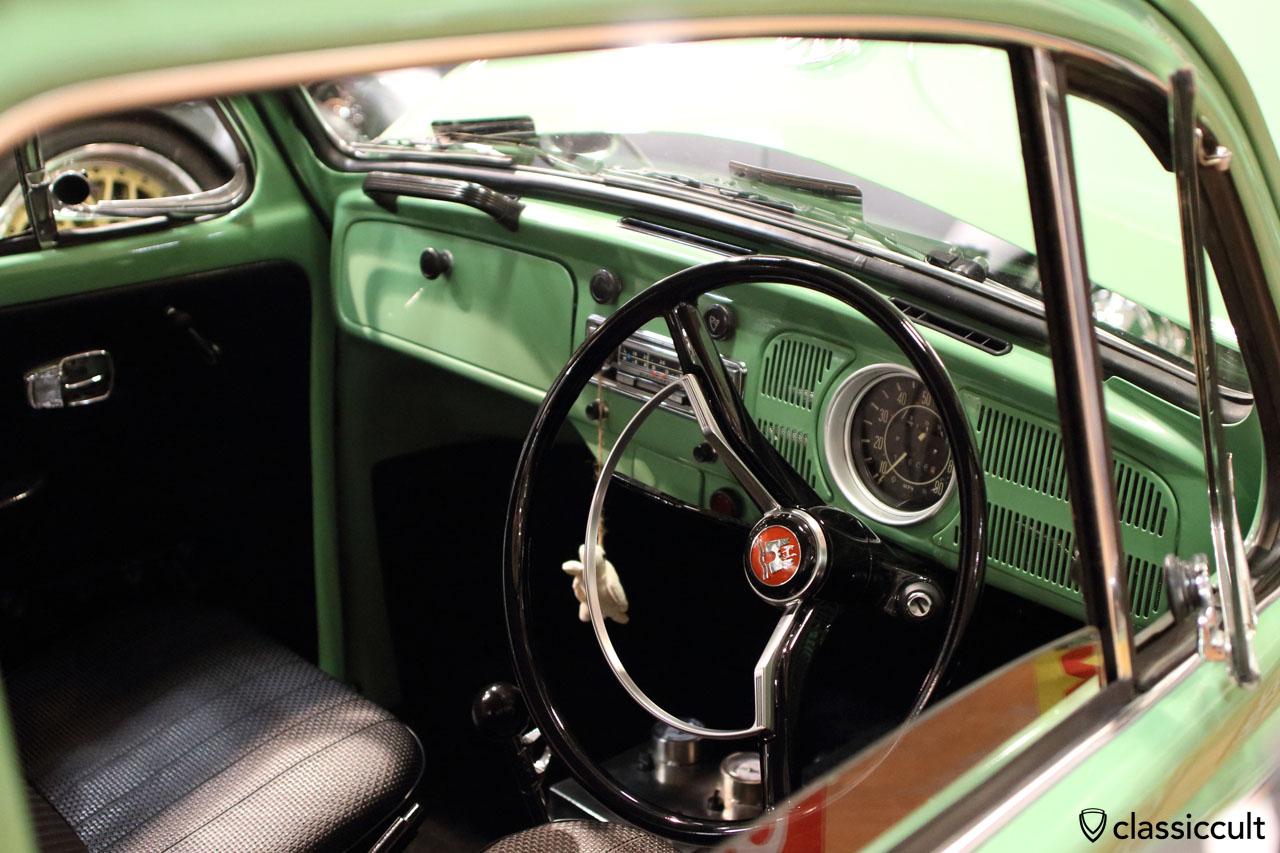 VW Bug dashboard view