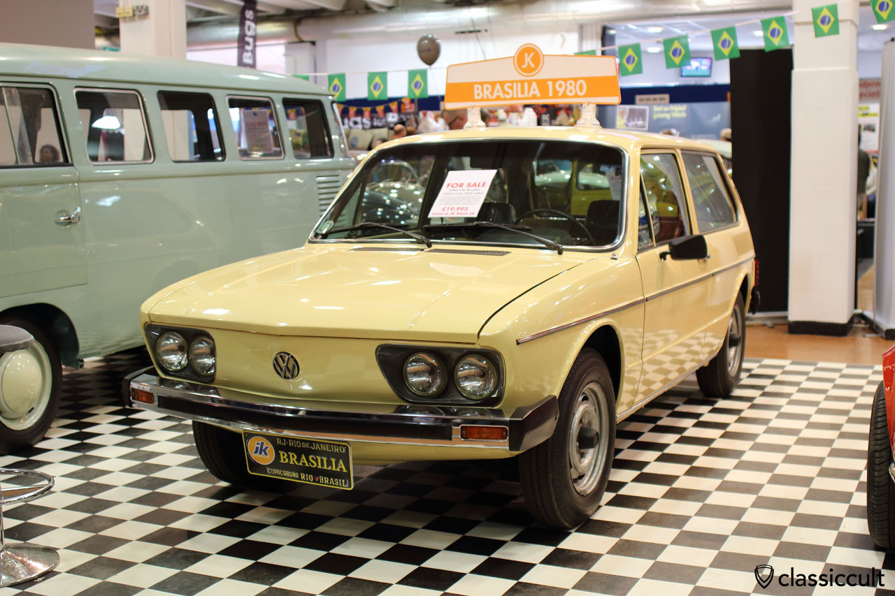1980 VW Brasilia 1600LS in very good condition with only 5000 miles since new, front view