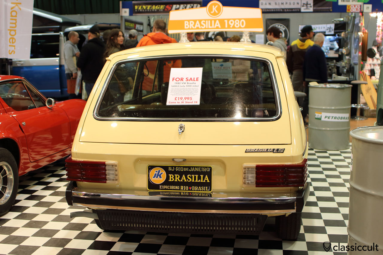 1980 VW Brasilia 1600LS, rear view