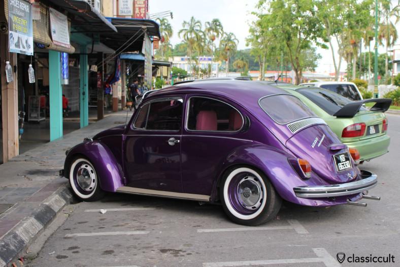 slammed VW 1200 Beetle, Sarawak, Malaysia, May 4, 2014