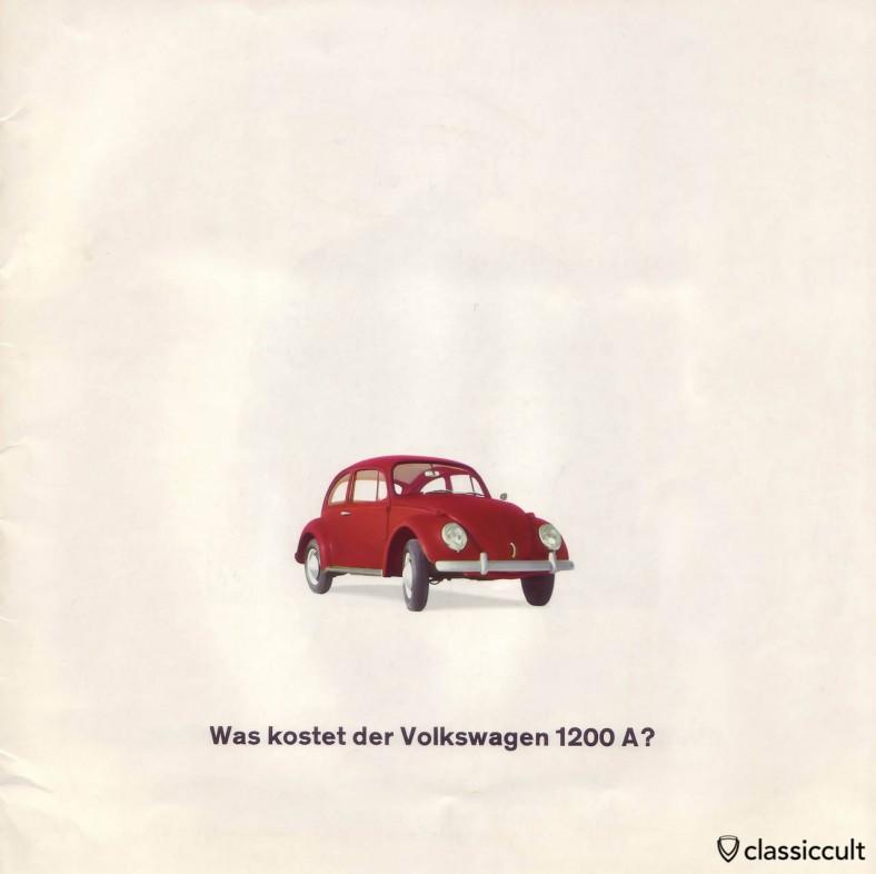 VW 1200A Brochure 01-1965 Page 1