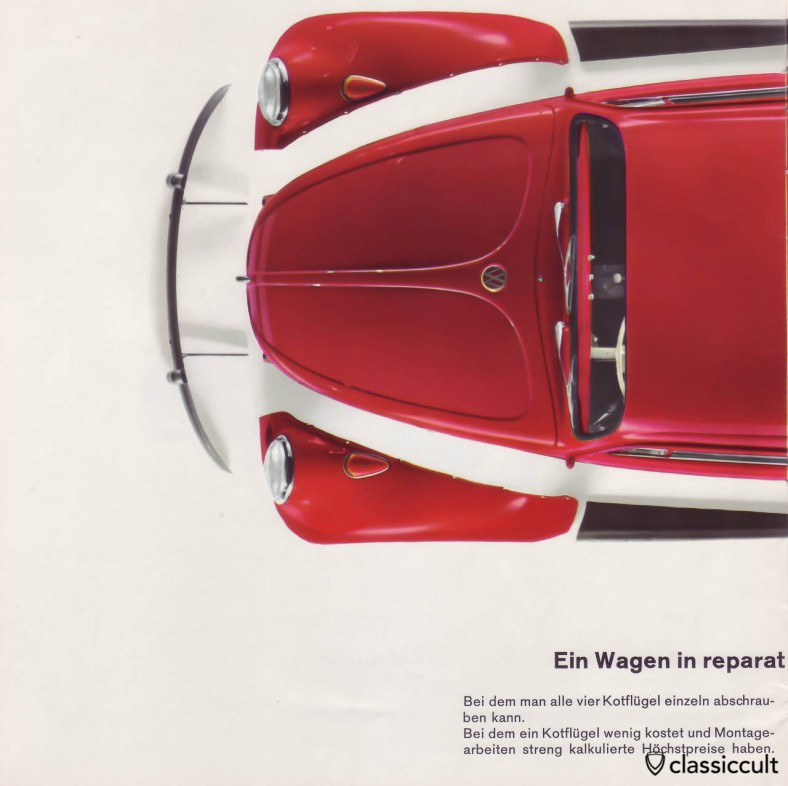 The 1200A has painted turn signals. VW 1200 A Brochure 01-1965 Page 14.