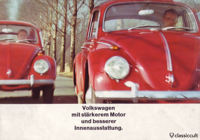 VW 1200A 1965 with 34hp motor. VW 1200 A Brochure 08-1965 Page 1.