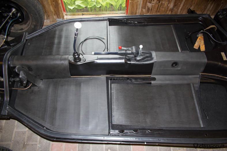 VW 1200A Standard Beetle floor mats.