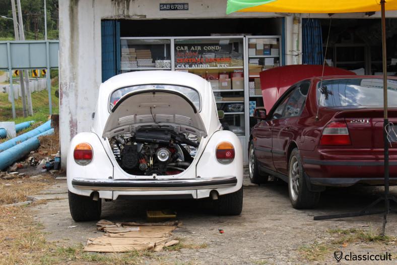VW 1300 motor, Ranau, Sabah, Borneo, Malaysia, April 19, 2014