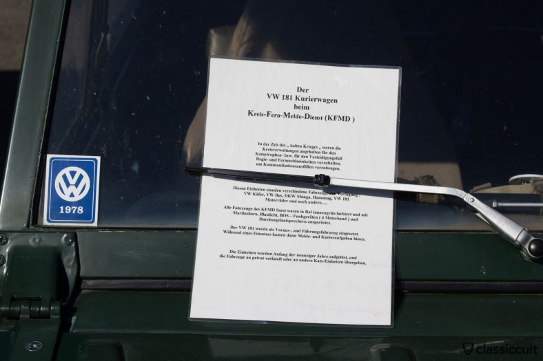 VW 181 Kreis-Fern-Melde-Dienst (KFDM) Soest Thing Information Flyer