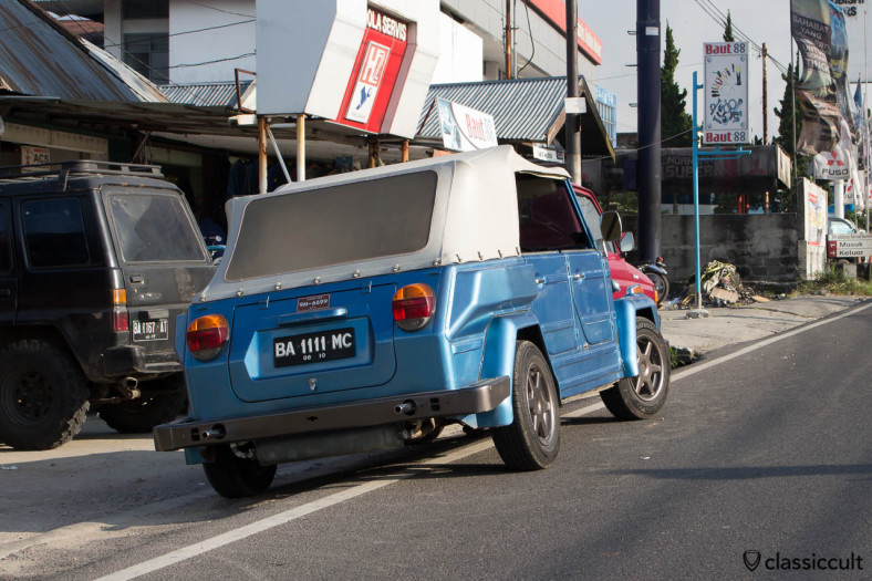VW 181 Safari in Bukittinggi Indonesia - rear view