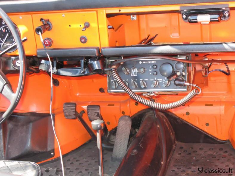 VW 181 Thing with Telefunken FUG-7b