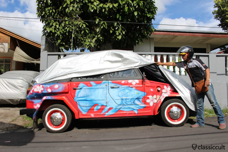 VW 181 Camat side view, Tomohon, Sulawesi, Indonesia, March 23, 2014
