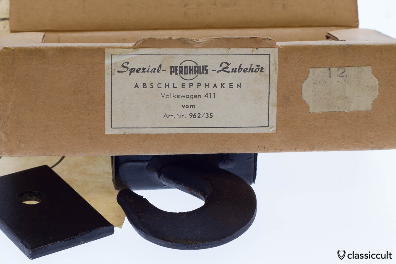 PEROHAUS Abschlepphaken VW, new old stock