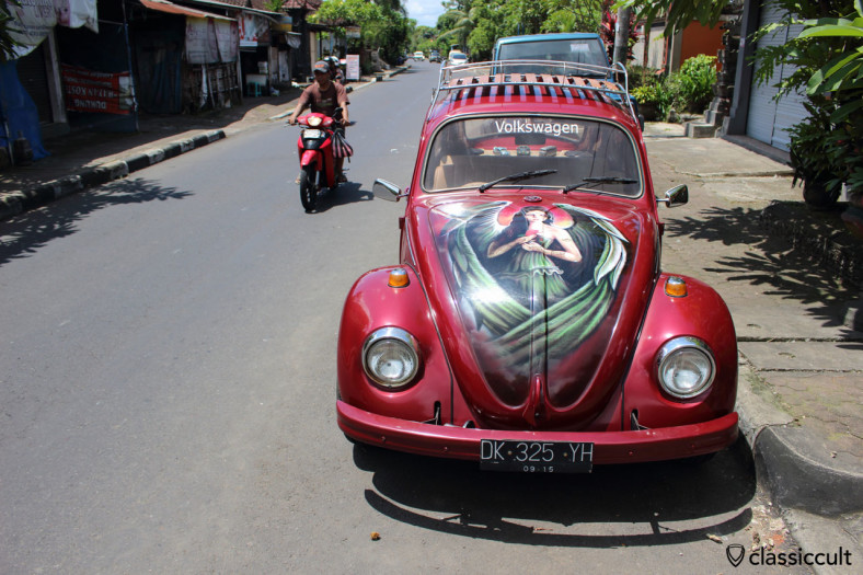VW 1300 Bug front with airbrush, Bali, February 25, 2014