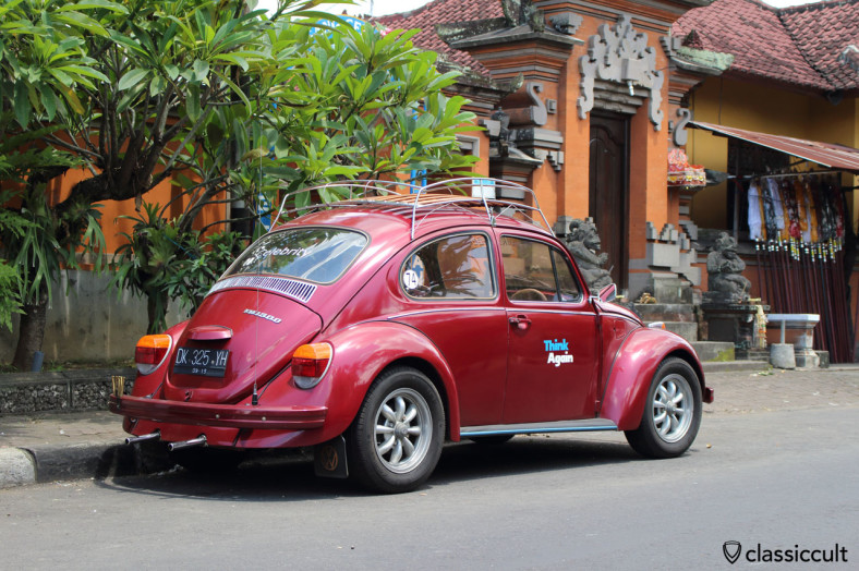 VW 1300 Bug with roof rack, Bali, February 25, 2014