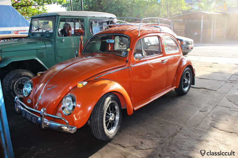 VW 1200 Beetle with Sprintstar, front view, Bali, Indonesia, February 25, 2014