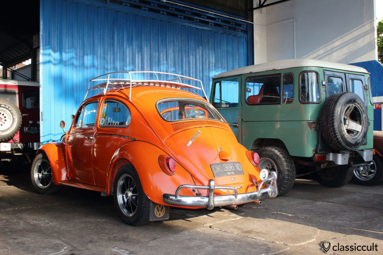 VW 1200 Beetle with Sprintstar, rear view, Bali, Indonesia, February 25, 2014