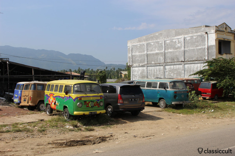 plenty classic VWs in Banda Aceh, Sumatra, Indonesia, January 22, 2014