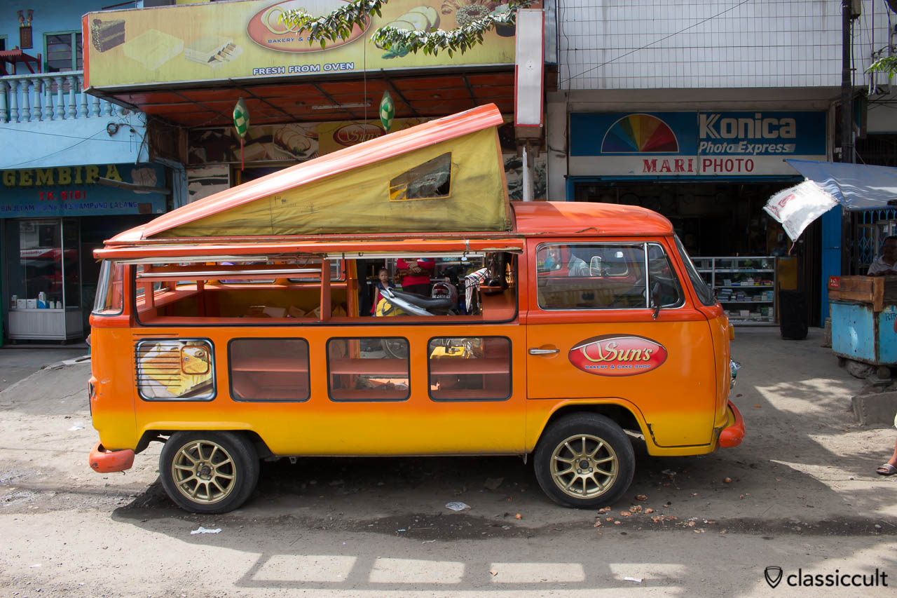 VW Bay Windows Bus of Suns Bakery & Cake Shop in Medan Indonesia