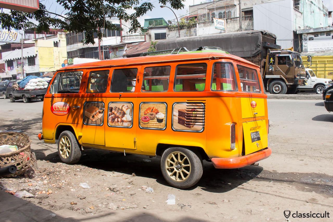 VW Bay Windows Bus of Suns Bakery & Cake Shop in Medan Indonesia