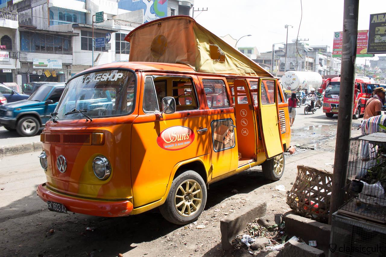 VW Bay Windows Bus of Suns Bakery & Cake Shop in Medan Sumatra