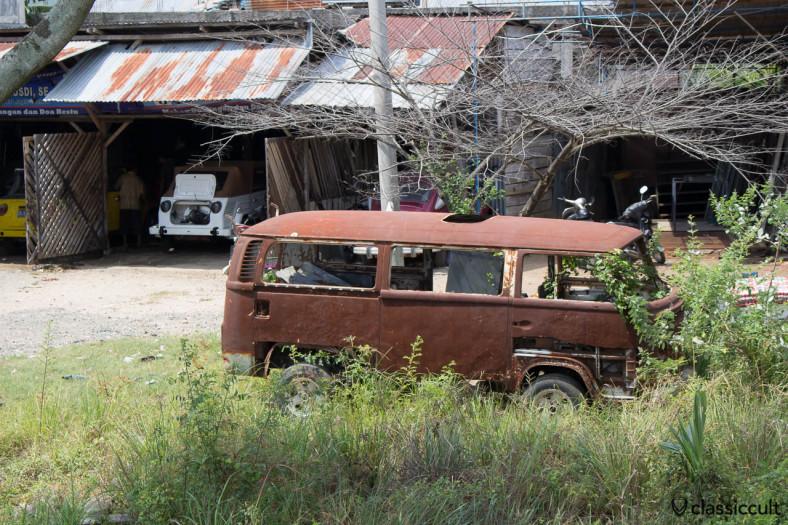 VW Bay Bus rusting in Aceh Sumatra